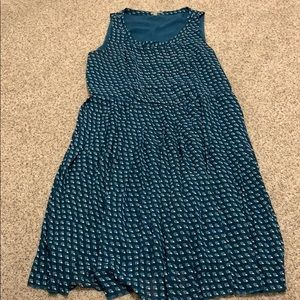 Halogen Peacock Print Midi Pleated Dress 16